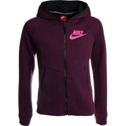 Nike Performance HOODIE Bluza rozpinana bordeaux/heather/black/lethal pink. Czerwone bluzy dziewczęce rozpinane marki Nike Performance, z bawełny. W wyprzedaży za 258,30 zł.