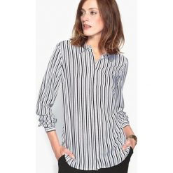 Bluzki asymetryczne: Bluzka koszulowa w paski