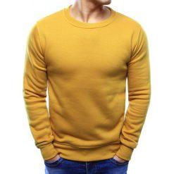 Bluzy męskie: Bluza męska gładka musztardowa (bx3396)