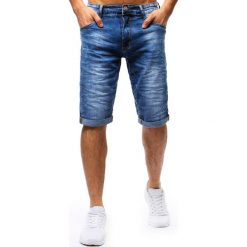 Bermudy męskie: Spodenki męskie jeansowe niebieskie (sx0671)