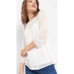 Koszula z ażurowymi wstawkami. Brązowe koszule damskie marki Orsay, s, z dzianiny. Za 89,99 zł.