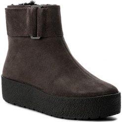 Botki VAGABOND - Siri 4237-040-18 Dk Grey. Szare buty zimowe damskie marki Vagabond, ze skóry. W wyprzedaży za 449,00 zł.