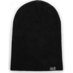 Czapka JACK WOLFSKIN - Rib Hat 1903891 Black. Czarne czapki zimowe damskie marki Jack Wolfskin, w paski, z materiału. Za 64,99 zł.