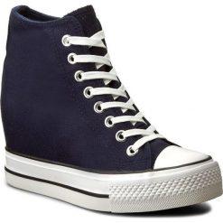 Sneakersy NYLON RED - W17SS820-4 Granatowy. Niebieskie sneakersy damskie Nylon Red, z gumy. Za 79,99 zł.