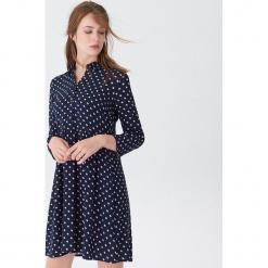 Wzorzysta sukienka - Granatowy. Niebieskie sukienki marki House, l. Za 99,99 zł.