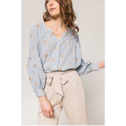 Answear - Koszula Wild Nature. Szare koszule damskie marki ANSWEAR, l, z haftami, z bawełny, casualowe, ze stójką, z długim rękawem. W wyprzedaży za 59,90 zł.