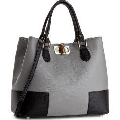 Torebka CREOLE - K10396  Szary/Czarny. Szare torebki klasyczne damskie Creole, ze skóry. Za 309,00 zł.