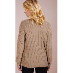 Polo Ralph Lauren CLASSIC Sweter truffle heather. Brązowe swetry klasyczne damskie Polo Ralph Lauren, xl, z bawełny, polo. Za 589,00 zł.