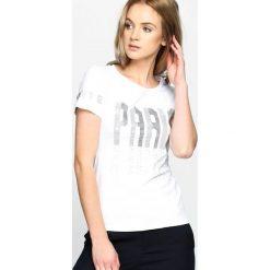T-shirty damskie: Biały T-shirt Train Of Thought