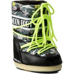 Buty zimowe chłopięce: Śniegowce MOON BOOT – Jr T-Rex 34000900002 Black/Green