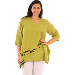 T-shirty damskie: Lniana koszulka w kolorze limonkowym