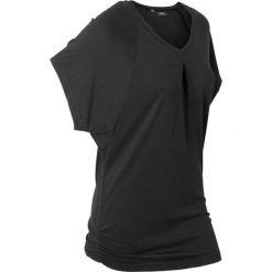 """T-shirt """"wellness"""" z krótkimi rękawami typu nietoperz bonprix czarny. Czarne t-shirty damskie bonprix, z dżerseju. Za 54,99 zł."""