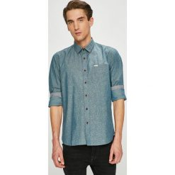 Pepe Jeans - Koszula. Szare koszule męskie jeansowe marki Pepe Jeans, l, z klasycznym kołnierzykiem, z długim rękawem. W wyprzedaży za 219,90 zł.