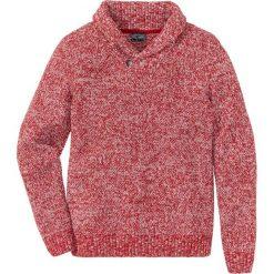 Sweter z szalowym kołnierzem Regular Fit bonprix czerwony melanż. Czerwone swetry klasyczne męskie marki bonprix, l, melanż. Za 59,99 zł.