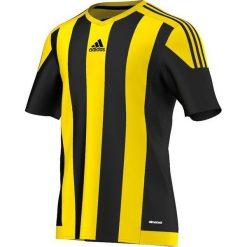 Adidas Koszulka piłkarska męska Striped 15 czarno-żółta r. M (S16143). Czarne koszulki do piłki nożnej męskie marki Adidas, m. Za 89,00 zł.