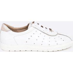 Caprice - Buty. Białe buty sportowe damskie Caprice, z materiału. W wyprzedaży za 199,90 zł.