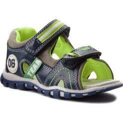 Sandały chłopięce: Sandały ACTION BOY – CM170706-30 Niebieski/Zielony