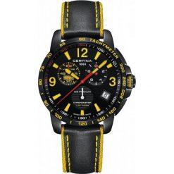 PROMOCJA ZEGAREK CERTINA DS Podium Chrono Lap Timer Racing Edition. Czarne zegarki męskie CERTINA, ze stali. W wyprzedaży za 2587,20 zł.