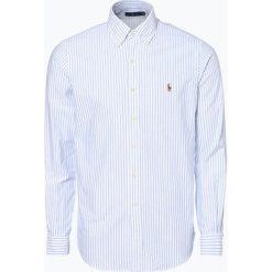 Polo Ralph Lauren - Koszula męska, niebieski. Niebieskie koszule męskie na spinki Polo Ralph Lauren, m, z haftami, button down. Za 499,95 zł.