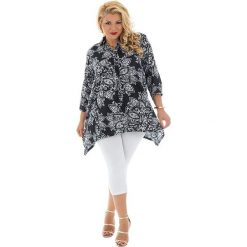 Bluzki damskie: Bluzka w kolorze czarno-białym