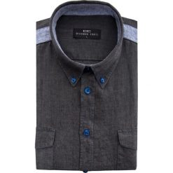 Koszula MATTEO 15-03-25. Czarne koszule męskie na spinki Giacomo Conti, na lato, m, w kolorowe wzory, button down, z krótkim rękawem. Za 169,00 zł.