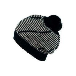 Czapka damska Paseczki czarno-biała. Białe czapki zimowe damskie Art of Polo. Za 39,22 zł.