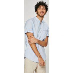 Medicine - Koszula Traveller. Szare koszule męskie na spinki MEDICINE, m, z bawełny, ze stójką, z krótkim rękawem. W wyprzedaży za 59,90 zł.