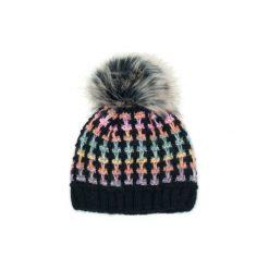 Czapka damska Coco czarno-różowa. Czarne czapki zimowe damskie marki Art of Polo. Za 47,34 zł.