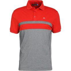J.LINDEBERG KYE POLY Tshirt z nadrukiem racing red. Czerwone koszulki polo J.LINDEBERG, m, z nadrukiem, z bawełny. W wyprzedaży za 356,15 zł.