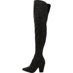 Buty zimowe damskie: Buffalo Muszkieterki glitter black