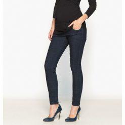 Ciążowe jeansy skinny. Szare jeansy damskie marki La Redoute Collections, m, z bawełny, z kapturem. Za 141,08 zł.