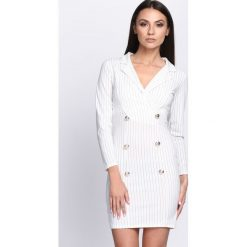 Sukienki: Biała Sukienka Shudder