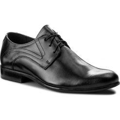 Półbuty GREGOR - 01077-ME-G00-LS Czarny. Czarne buty wizytowe męskie Gregor, z materiału. W wyprzedaży za 199,00 zł.