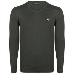 Felix Hardy Sweter Męski M Khaki. Czarne swetry klasyczne męskie marki Polo Club C.H..A, m, dekolt w kształcie v. Za 159,00 zł.