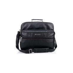 Duża  torba męska na ramię worker bag street. Czarne torby na ramię męskie marki Bag Street, w paski, ze skóry ekologicznej, na ramię, duże. Za 76,89 zł.