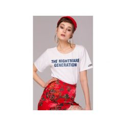The Nightmare Generation T-shirt Bluzka. Białe t-shirty damskie Animals Wave, l, z haftami, z bawełny. Za 79,00 zł.