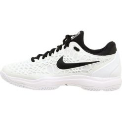 Nike Performance AIR ZOOM CAGE 3 HC Obuwie do tenisa Outdoor white/black. Białe buty do tenisa męskie Nike Performance, z materiału. W wyprzedaży za 466,65 zł.