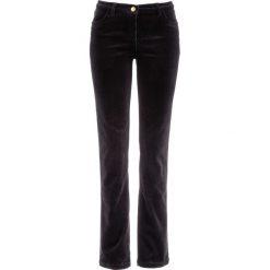 Spodnie sztruksowe ze stretchem bonprix czarny. Niebieskie rurki damskie marki bonprix, z nadrukiem. Za 79,99 zł.
