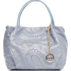 Torebki klasyczne damskie: Skórzana torebka w kolorze niebieskim – 26 x 20 x 14 cm