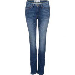 Dżinsy dresowe ocieplane STRAIGHT bonprix niebieski. Niebieskie jeansy damskie marki bonprix. Za 149,99 zł.