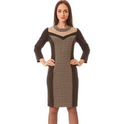 Sukienki hiszpanki: Sukienka w kolorze beżowo-czarnym