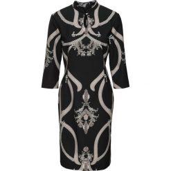 Sukienki: Sukienka bonprix czarno-kamienisto-biały z nadrukiem