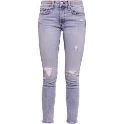 Rag & bone ANKLE SKINNY Jeans Skinny Fit double down. Niebieskie boyfriendy damskie rag & bone, z bawełny. W wyprzedaży za 615,30 zł.