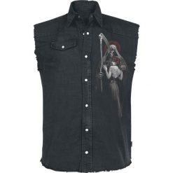 Koszule męskie na spinki: Spiral Dead Kiss Koszula bez rękawów - Workershirt czarny