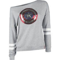 Bluzy rozpinane damskie: Captain America Logo Bluza damska odcienie szarego