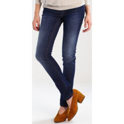 Boyfriendy damskie: Slacks & Co. Jeansy Slim Fit indigo