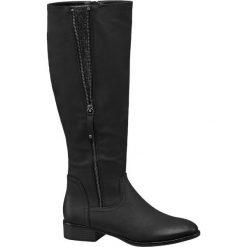 Kozaki damskie Graceland czarne. Czarne buty zimowe damskie marki Graceland, w kolorowe wzory, z materiału. Za 127,92 zł.