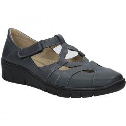 Grafitowe półbuty skórzane na koturnie Helios 340. Szare buty ślubne damskie marki Helios, na koturnie. Za 188,99 zł.