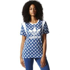 Bluzki damskie: Adidas Koszulka damska Boyfriend Trefoil Tee niebieska r. 34 (BJ8282)