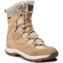 Śniegowce JACK WOLFSKIN - Thunder Bay Texapore High W 4020521 Sandstone. Czarne buty zimowe damskie marki Jack Wolfskin, w paski, z materiału. W wyprzedaży za 449,00 zł.